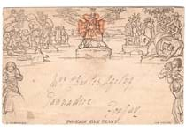 The first ever example of pictorial pre-paid stationery, issued at the same time as the Penny Black in 1840. These envelopes were beautifully illustrated by William Mulready.