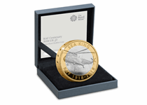 This 2018 RAF Sea King Silver Proof Piedfort £2 has been issued by The Royal Mint to celebrate the Sea King Helicopter. The reverse features the Sea King Helicopter and the obverse QEII.