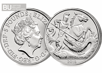 This £5 celebrates the 5th birthday of His Royal Highness Prince George of Cambridge. This coin has been struck to a brilliant uncirculated quality.
