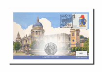 This small UK cover features Royal Mail's 2006 Paddington Bear 1st Class stamp, and The Royal Mint's 2019 Paddington at St Paul's Cathedral BU 50p coin. Postmarked - 12.09.19. Edition Limit: 1,000.