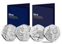 Secure the 2018 & 2019 Change Checker Paddington Collecting Packs. Each have space to house both 2018 & 2019 Paddington 50p coins and include the specifications for each coin. Coins not included.