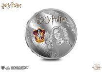 This Silver-Plated coin features an engraving of Hermione Granger and has been officially approved by J.K Rowling and Warner Bros. Official Harry Potter Coin.