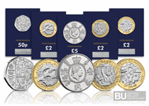 The 2020 Commemorative Coin Pack includes all 5 new 2020 issues: Team GB 50p, Agatha Christie £2, Victory in Europe £2, Mayflower £2 and King George £5. All coins are in CERTIFIED BU quality.