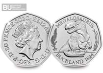 This 50p is the first coin in The Royal Mint's Dinosauria 50p series. It features a design of the Megalosaurus Rex on it's reverse.