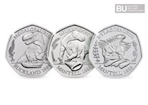 This Collection includes all three 2020 UK Dinosaur 50ps: Megalosaurus, Iguanodon and Hyaelosaurus, each struck to a Brilliant Uncirculated quality and comes in Official Change Checker packaging.